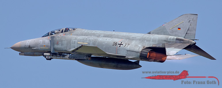 "MDD F-4F Phantom II, 38+37, JG 71 ""R"" (Richthofen), Luftwaffe, German Air Force"